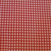 Bomullstyg röd-vit rutigt (Gingham)