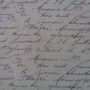 Bomullstyg naturvit/text (La Concorde)