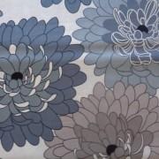 Bomullstyg grå blomma (Fresh Bloom)