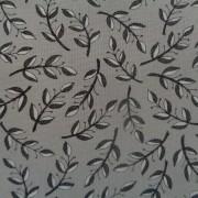 Bomullstyg grå blad (Homegrown)