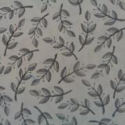 Bomullstyg grått blad (Homegrown)