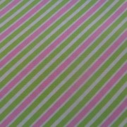 Bomullstyg grön/rosa rand (Remix)