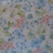 Bomullstyg blå blommor (Arbor Hill)