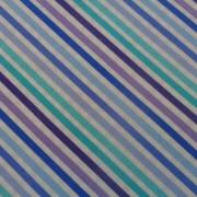 Bomullstyg blå diagonalrand (Dot.Dot.Dash-!)
