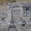 Bomullstyg grå-beige parismotiv (Paris)