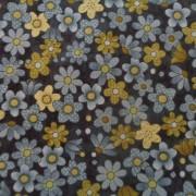 Bomullstyg blå-grön blomma (Garden Days)