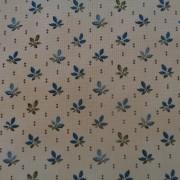 Bomullstyg blå blad (Pumpkin Pie Prints)