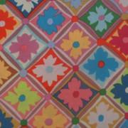 Bomullstyg i klara färger (Antwerp Flowers)