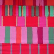 FYND! Bomullstyg rött/orange (Layered Stripe)