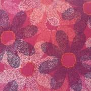 Bomullstyg röd blomma (Sundance)