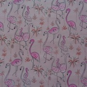 FYND! Bomullstyg med rosa flamingos (Flamingo)