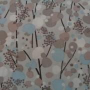 Bomullstyg grå-brun-blå (Drys)
