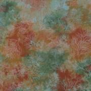 Bomullstyg orange-grönt (Fusions Mist)