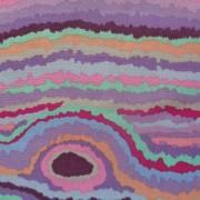 Bomullstyg lila rand (Jupiter)