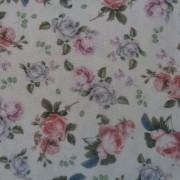 Bomullstyg rosa rosor (La Concorde)