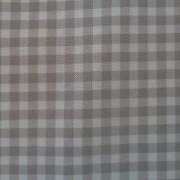 Bomullstyg grå/vit rutigt (La Concorde)