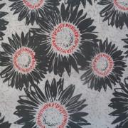 Bomullstyg mörkgrå blomma (Makers Home)