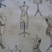 Bomullstyg beige/provdockor (Vintage Couturier)
