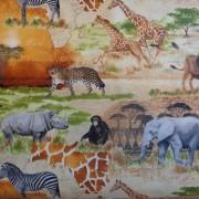 Bomullstyg vilda djur (Wild)