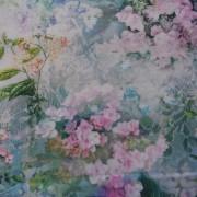 Bomullstyg ljuslila blommor (Wildwood Way)