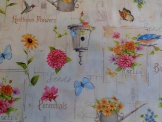 Bomullstyg blommigt (Adalee's Garden)