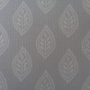 Bomullstyg grå-vitt blad
