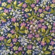 Bomullstyg lila miniblomma