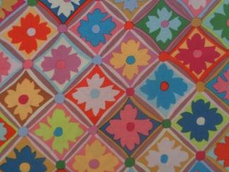 FYND! Bomullstyg i klara färger (Antwerp Flowers)