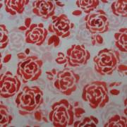 Bomullstyg röda blommor (Sugar Berry)
