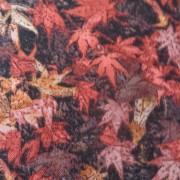 Bomullstyg röda löv