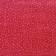 Bomullstyg röda prickar (Bear Essentials)