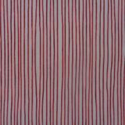 Bomullstyg röd smal rand (More Merriment)