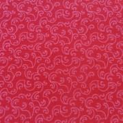 Bomullstyg rött mönster (Bear Essentials)