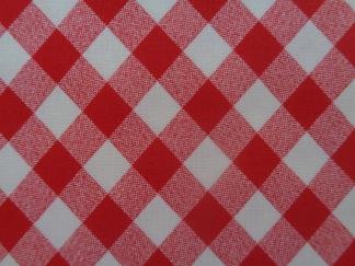 Bomullstyg röd ruta (Vintage Picnic)