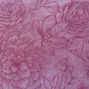 Bomullstyg gammalrosa blomma (Bella Suede)