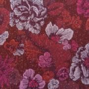 Bomullstyg röda blommor (Fusions Garden)