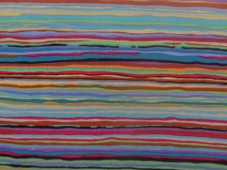 Bomullstyg multifärgad rand (Strata)