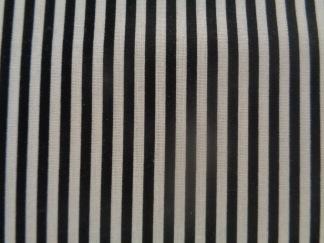 Bomullstyg svart-vit randigt (Stripe)