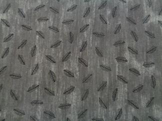Bomullstyg grått/svart mönster (Savana)