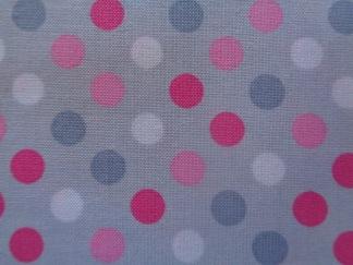 Bomullstyg Spot On grå-rosa