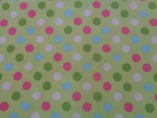 Bomullstyg Spot On ljusgrön-rosa