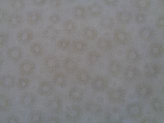 Bomullstyg beige blomma (Hopscotch)