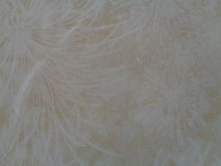 Bomullstyg beige blommönster (Botanicals)