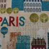 FYND! Bomullstyg stadsmotiv (Hello Paris)