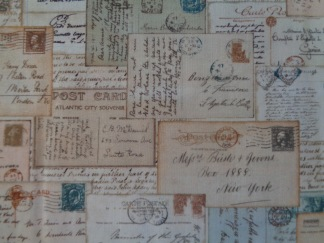 Bomullstyg vykort (La Concorde)