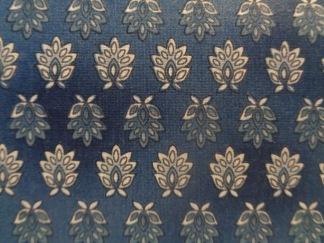 Bomullstyg blått mönster (La Provence)