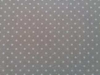 Bomullstyg grå/vit prick (La Concorde)