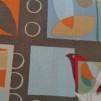 Bomullstyg grått/abstrakt mönster (Urban Nature)