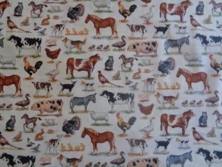 Bomullstyg bondgårdens djur (Farm Animals)