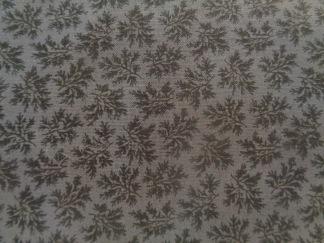 Bomullstyg grått blommönster (Forget Me Not)